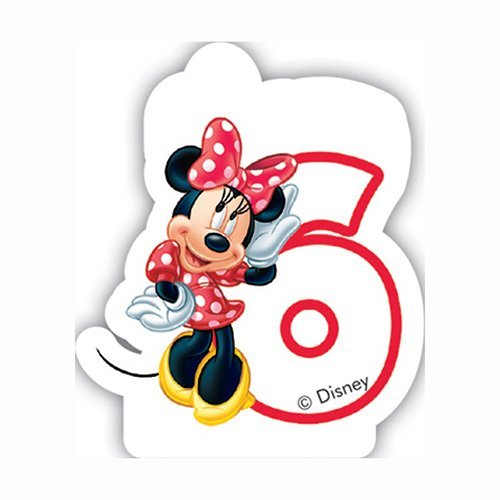 Caf Disney Minnie Mouse 6th Birthday Candle by Disney Junior