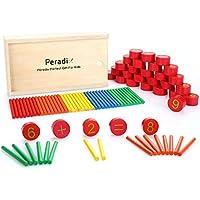 Peradix Palillos de Madera Números Matemáticas Juguete Entrenamiento para Niños
