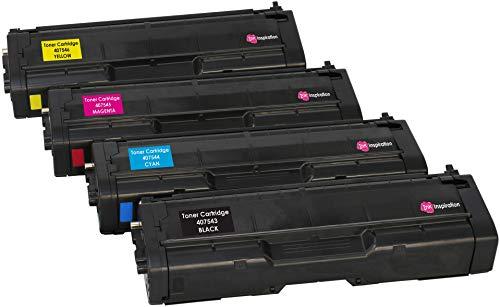 Ricoh Color Laser (4er Set Premium Toner kompatibel für Ricoh SPC250DN SPC250DNw SPC250SF SPC252DN SPC252SF | Schwarz 2.000 Seiten & Color je 1.600 Seiten)
