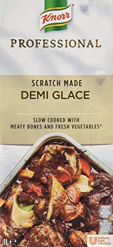 Knorr Professional Demi Glace Sauce (flüssige, braune Grundsauce) 1er Pack (1 x 1L)