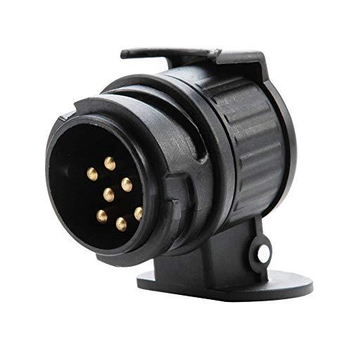 Ndier Professionelle 13 polig auf 7 Pin Adapter tragbare Runde Sockel Converter Fest LKW Anhänger Stecker Autoaccessoires -