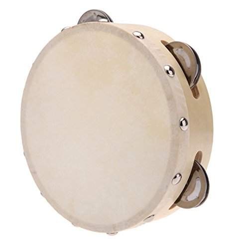 Tamburin - TOOGOO(R)Hand Tamburin Drum Glocke Metall Jingles Percussion Musikalisches Spielzeug fuer KTV Party Kinderspiele