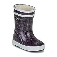 Aigle Baby FLAC Print Fur Boots Filles Black/Glitter Wellington Boots