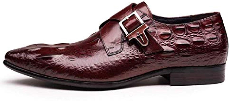 Zapatos De Hombre De La Hebilla De British Pointed Crocodile Zapatos De Hombre De La Parte Baja Zapatos De Hombre... -