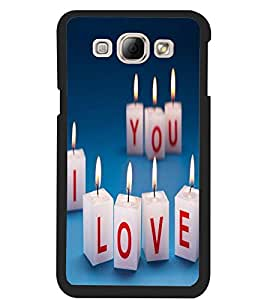 ColourCraft Love Candles Design Back Case Cover for SAMSUNG GALAXY A8