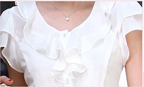 Taiduosheng Damen Bluse Weiß