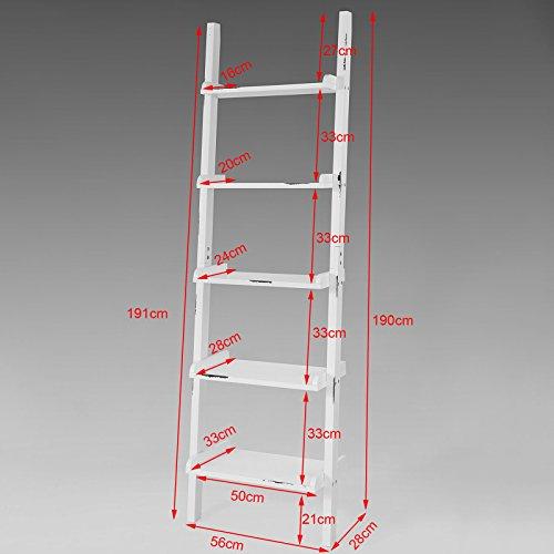SoBuy-Scaffale-a-scala-di-stile-retrLibreriaMensole-da-angoloMensola-porta-CDeffetto-usatoFRG138-WIT