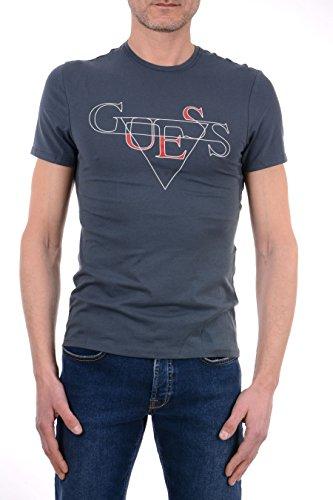 Guess Herren T-Shirt CN SS String Tee GRIGIO PRVB