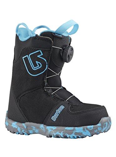 Burton grom boa, scarponi snowboard bambino, nero, 3k