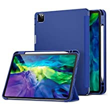 ESR Case for iPad Pro 11 2020 & 2018 with Pencil Holder, Rebound Pencil iPad Case with Soft Flexible TPU Back Cover, Auto Sleep/Wake, Multiple Viewing Stand Modes for iPad Pro 11 2020, Navy Blue
