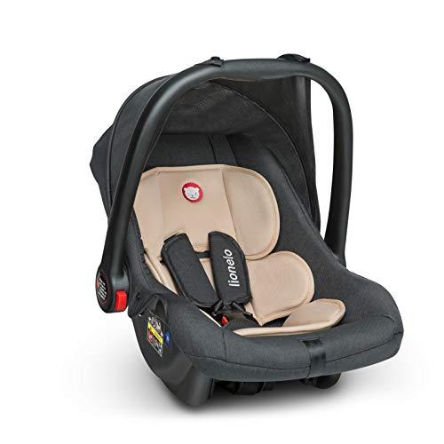 Lionelo LO-NOA PLUS SAND Noa Babyschale Kindersitz Baby Autositz Gruppe 0+ 0-13 kg TÜV, beige, 2.6 kg