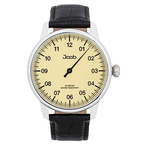 Jcob Einzeiger Uhr JCW001-LS02 Herren Beige Lederarmband Schwarz