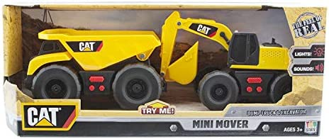 CAT Mini Mover Dump Truck & Excavator Construction Construction Construction Toy Vehicles by Caterpillar | Produits De Qualité