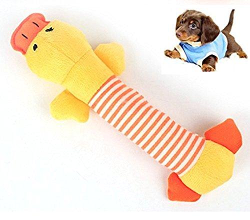 molaren Welpen kauen squeaky Plüsch Sounding Spielzeug, Plüsch Welpen Spielzeug schlafen gefüllt Tier (Stil 2) (Zwei Ton-fransen)
