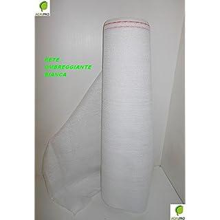 AGRIPRO Schattennetz weiß 90% MT 2x 50Badetuch Schatten Windschutz Sichtschutz