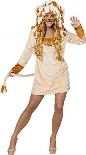 O9905-34-36 Sexy Löwe Löwen Kleid Kostüm - Giraffe Kostüm König Der Löwen