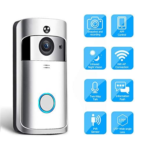 DVCZ Video-Gegensprechanlage Wireless WiFi Video-Türklingel-Kamera IP 720P Zweiweg-Audio-Infrarot-Nachtsicht-APP-Steuerung über Smartphone