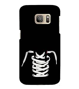 Shoe and Laces 3D Hard Polycarbonate Designer Back Case Cover for Samsung Galaxy S7 :: Samsung Galaxy S7 Duos :: Samsung Galaxy S7 G930F G930 G930FD