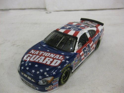 todd-bodine-54-national-guard-2003-ford-taurus-nascar-in-red-white-blue-diecast-124-scale-by-action-