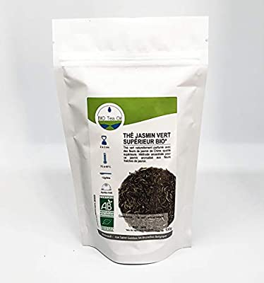 Jasmin Vert Superieur Bio Vert Chine - Thé Vert Biologique - Chine - 100gr - haute qualité
