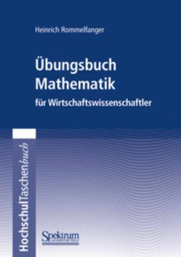 Buchcover: Übungsbuch Mathematik für Wirtschaftswissenschaftler (German Edition)