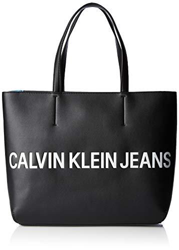 cb2569336593bd Calvin Klein Jeans - Sculpted Logo E/w Tote, Bolsos totes Mujer, Negro