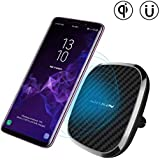 Nillkin 10W Fast Wireless Car Charger, [Rotatable] 2-in-1 Wireless Charging Pad & Stronger Magnetic Car Mount Holder for iPhone XS/XS Max/X/X/8 Plus,Galaxy S10/S10 Plus/Note 9/S9/S9 Plus (Model A)