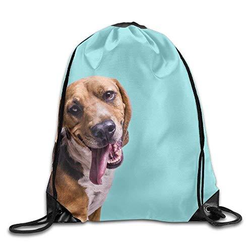 False warm warm Dog Blue-Green Drawstring Backpack Rucksack Shoulder Bags Training Gym Sack for Man and Women - Roxy Rolling Rucksack