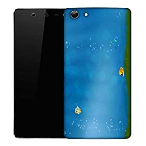 Snoogg Colorful Fish Designer Protective Phone Back Case Cover For Micromax Canvas Selfie 3 Q348