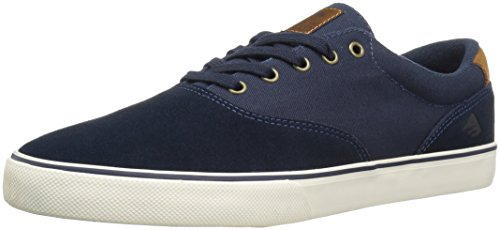 Skate shoe Men Emerica Provost Slim Vulc skate scarpe navy/brown/white