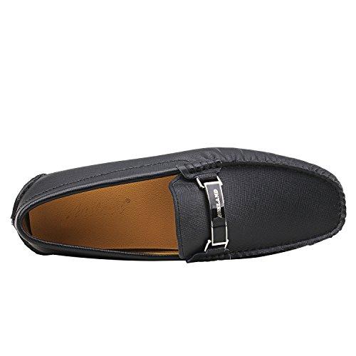 Shenduo Mocassins Pour Homme Cuir - Loafers Confort - Chaussures de Ville D7167 Noir