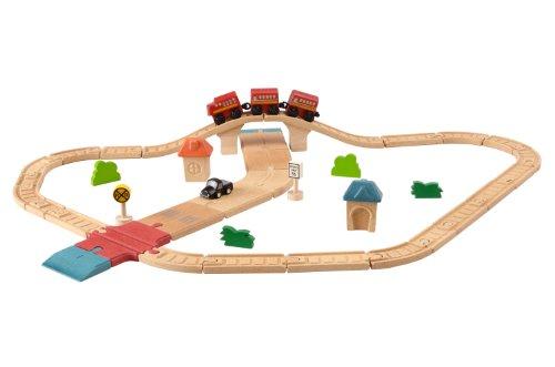 Plantoys - Pt6608 - Véhicule Miniature - Rail - Circuit Rails + Routes