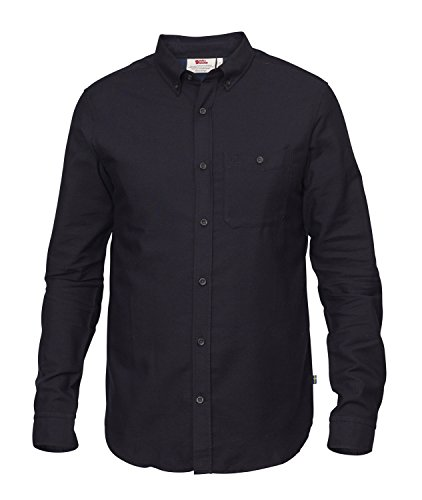 Fjäll Räven Övik Foxford Shirt LS-Dark Navy-XXL (Shirt Flanell Wolle)