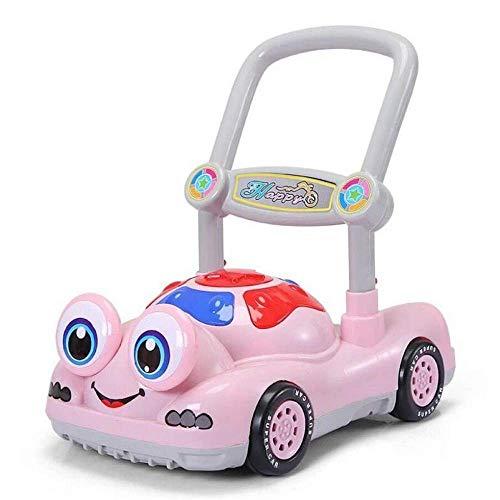 Arbre Kleinkind Trolley, Walker Trolley, Kinderspielzeugauto, 6-18 Monate, Anti-Test, Musik drehen, Walker Wagen (Farbe : Pink)