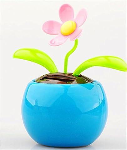 Interesting® Solar-Automatic Swing Sonnenblumen-Shake-Kopf zu Apple Blossoms Innendekoration Auto Einrichtungsgegenstände