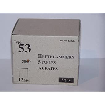 Rapid industrie agrafes fines type 53/12 mm-lot de 5000 11859670 boîte