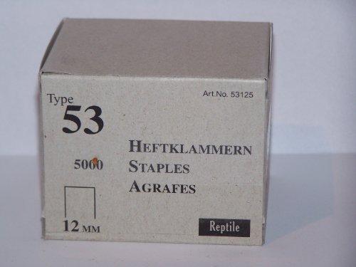 Rapid industrie agrafes fines type 53/12 mm-lot de 5000 11859670 boîte