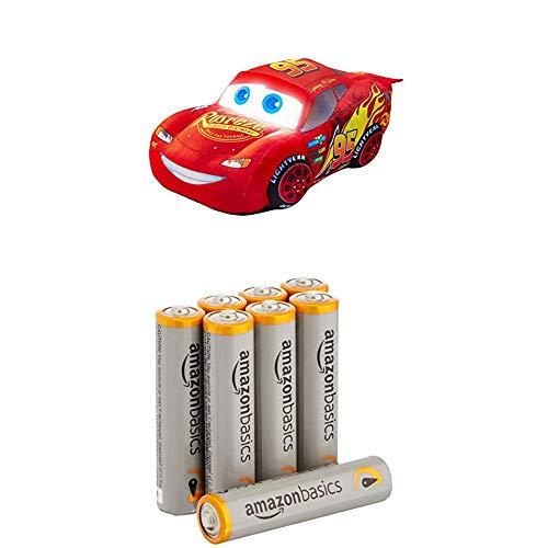 Disney Cars - Lightning McQueen: GoGlow-Nachtlicht und kuscheliges Spielzeug mit AmazonBasics Batterien (Disney Cars-uhren Für Jungen)