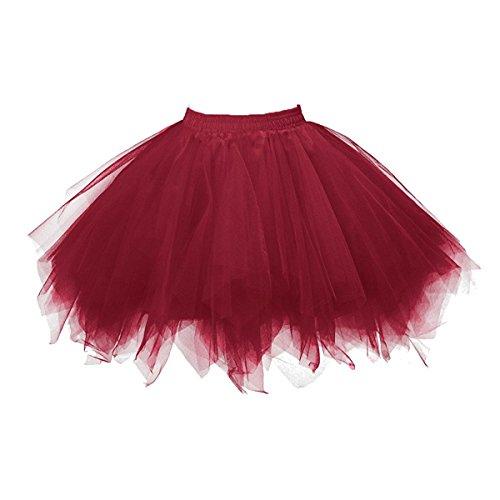 Honeystore Damen's Tutu Unterkleid Rock Abschlussball Abend Gelegenheit Zubehör (Kostüm Ballerina Tote Halloween)