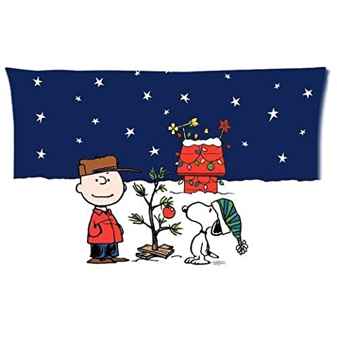 Charlie Brown And Snoopy At Christmas Comic Pillow Cover Design Easter Day Gifts Zippered Pillowcase Personalized Throw Pillowcases Decorative Sofa Or Bed Pillow Case Cover(20*30 (Snoopy Charlie Brown Christmas)