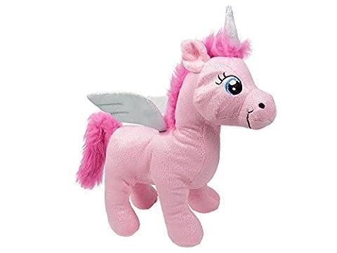 Peluche Licorne doudou nounours drôle doux idée cadeau noel anniversaire enfant fille garçon Douce Mignon avec des ailes tout doux à câliner craquant Doté d'un pouvoir magique, choisir:P440003 rose