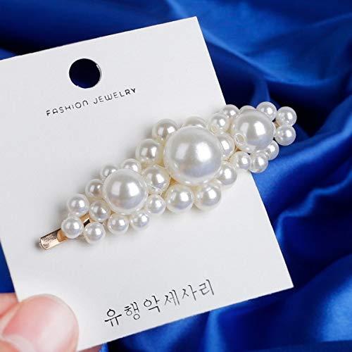 EQYYDD Mode handgefertigt Gold Farbe 1 STÜCK Perle Imitation Haarspange Snap Barrette Stick Haarnadel Haar Styling Zubehör Für Frauen Mädchen Stil 10