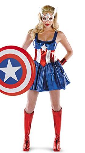 en Superman Kostüm Kapitän Der Vereinigten Staaten Galaxy Weiblichen Krieger Cosplay Service Prank Göttin Kostüm Cartoon School,Blue (Superman Weibliche Kostüm)