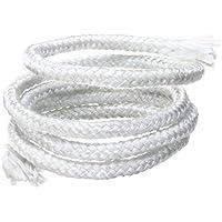 Mecha redonda de algodón, 1 m, 6 mm, cuerda de fibra de vidrio libre de álcalis, cuerda verde ahumada, lámpara de alcohol, cuerda de mecha