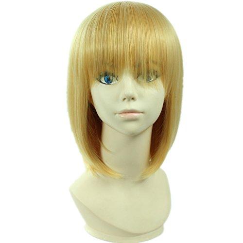 tueme Peruecke Attack On Titan Armin Arlart kurz Blonde Gold Karneval Party Anime Haar ()