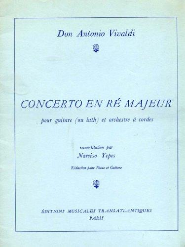 Konzert D-dur für Gitarre (Laute) und Streichorchester, RV 93. Ausgabe für Gitarre und Klavier