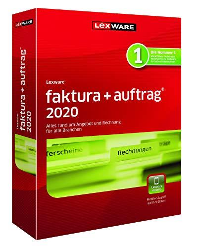 Lexware faktura+auftrag 2020|basis-Version Minibox (Jahreslizenz)|Einfache Auftrags- und Rechnungs-Software für alle Branchen|Kompatibel mit Windows 7 oder aktueller