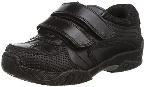 Hush Puppies Jezza, Jungen Sneakers Schwarz (Black)