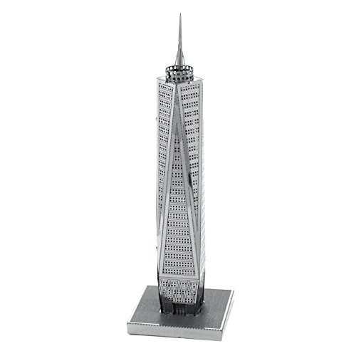 Fascinations Metal Earth MMS024 - 502582,One World Trade Center, Konstruktionsspielzeug, 1 Metallplatine, ab 14 Jahren