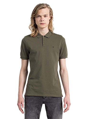Calvin Klein Paul SS Poloshirt 366 Mann Khaki XL Grün (Khaki Klein Calvin)